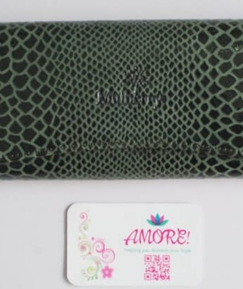 Green Snake Skin Wallet