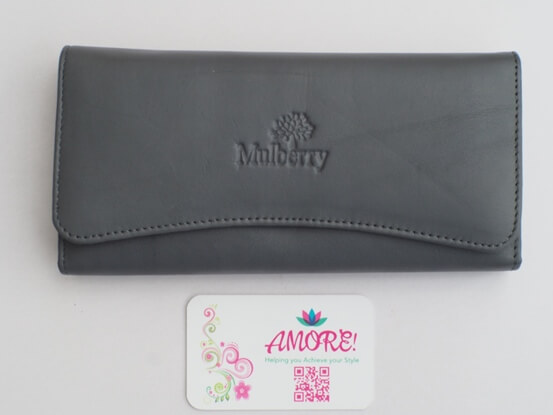 Grey Mulberry Wallet