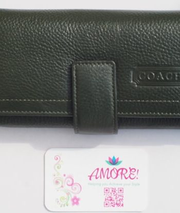 Jungle Green Coach Wallet