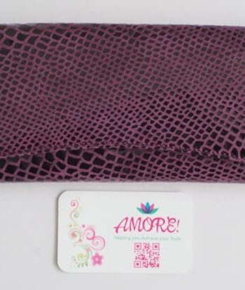 Purple Snake Skin Leather Wallet