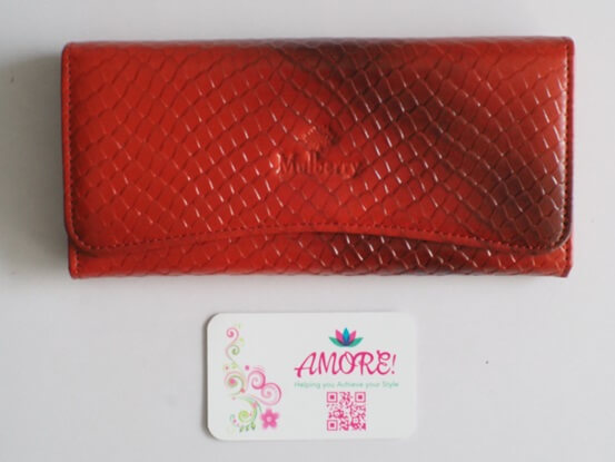 Red Croco Leather Wallet