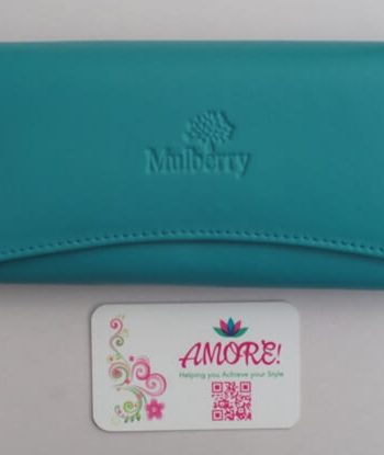 Turquiose Mulberry Wallet