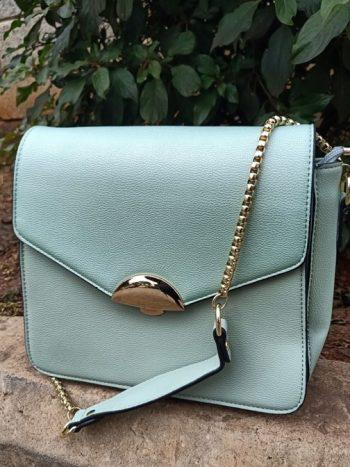 Lime green sling bag