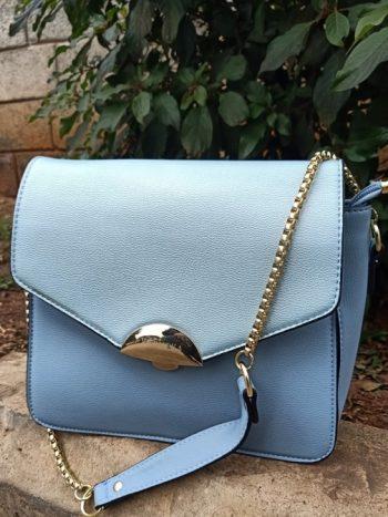 Sky blue sling bag