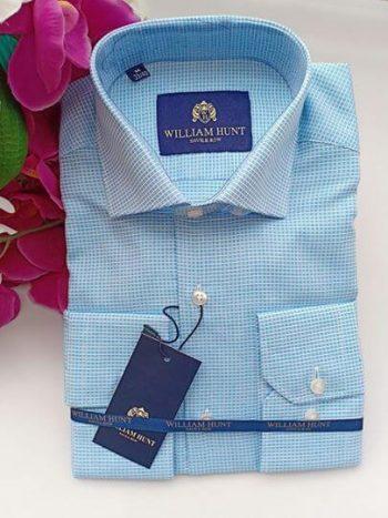 Blue dashed shirt