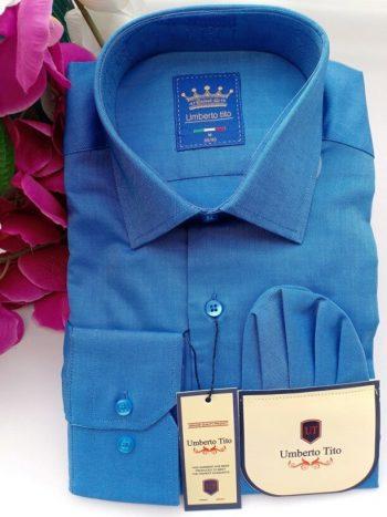 Silk dark blue shirt