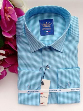 Turquiose blue shirt