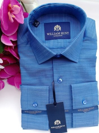WH dark blue shirt