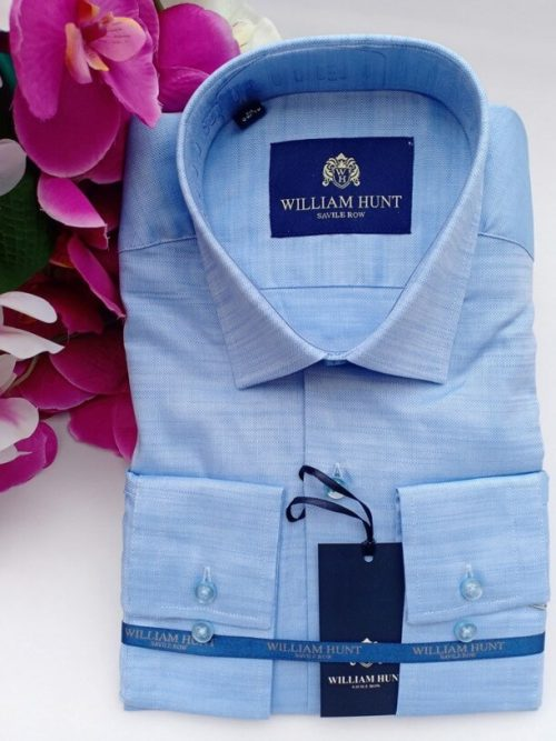 William hunt blue shirt