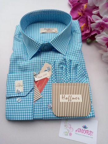 Blue checked shirt