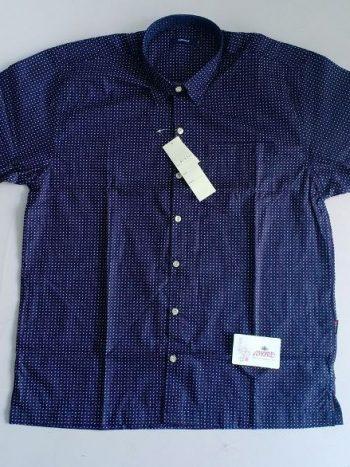 Blue polka print shirt