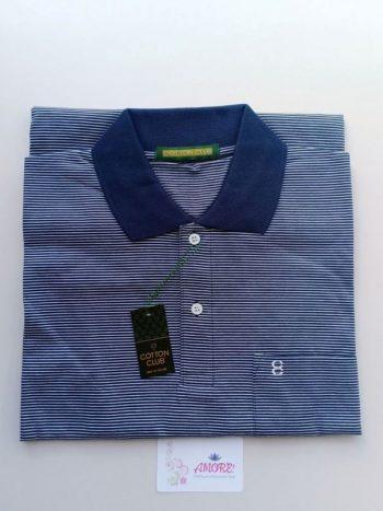 Blue striped polo tshirt