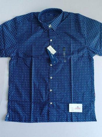 Blue white polka shirt