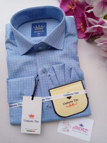 Checked blue Umbertto tito shirt