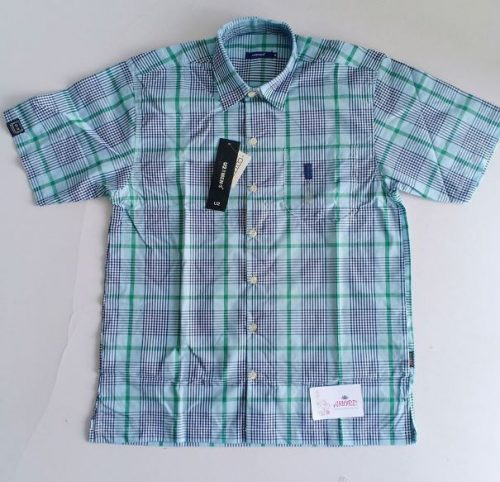 Checked green and blue shirt