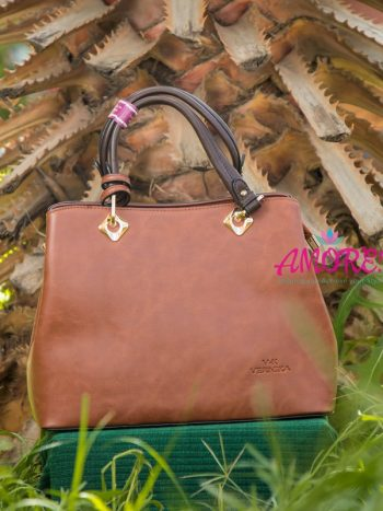 Cognac brown strap bag