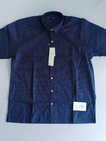 Dark blue polka shirt