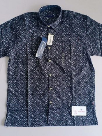 Dark blue printed shirt