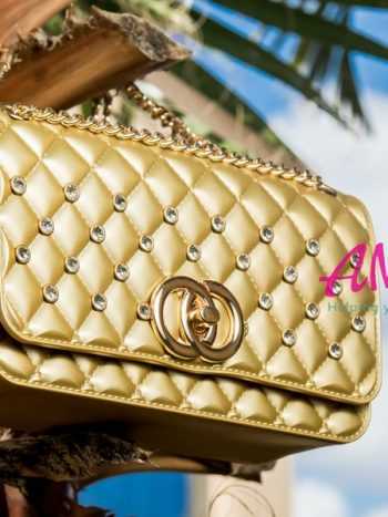Gold party sling bag