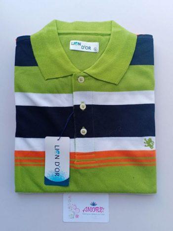 Green black polo tshirt
