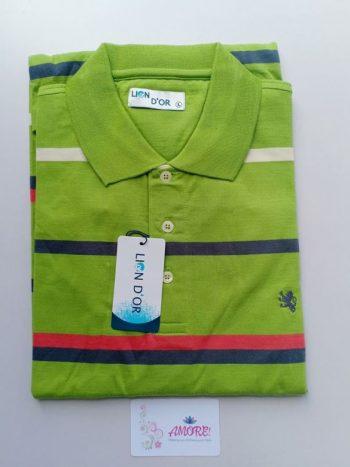 Green striped polo tshirt