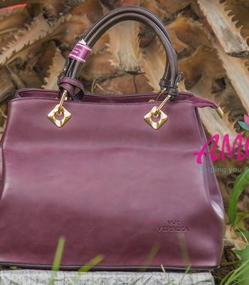 Maroon brown strap bag
