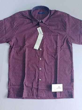 Maroon printed floral shirt