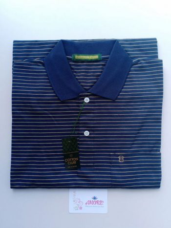 Striped blue yellow polo tshirt