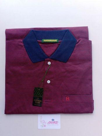 Striped red polo tshirt