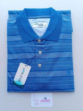 Striped sky blue polo tshirt