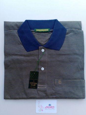 Striped yellow polo tshirt