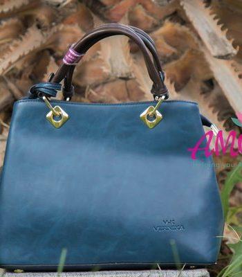 Till green brown strap bag