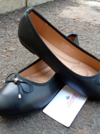 Black plain doll shoe
