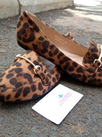 Cheetah print doll shoe