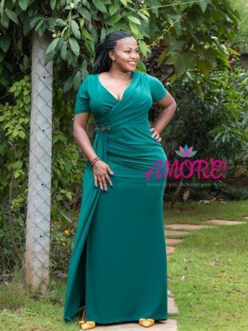 Green Li paris gown