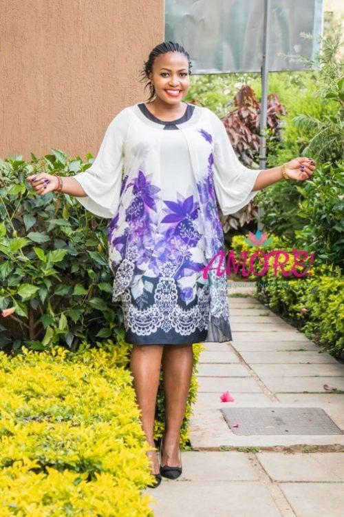 HB fashions purple flower