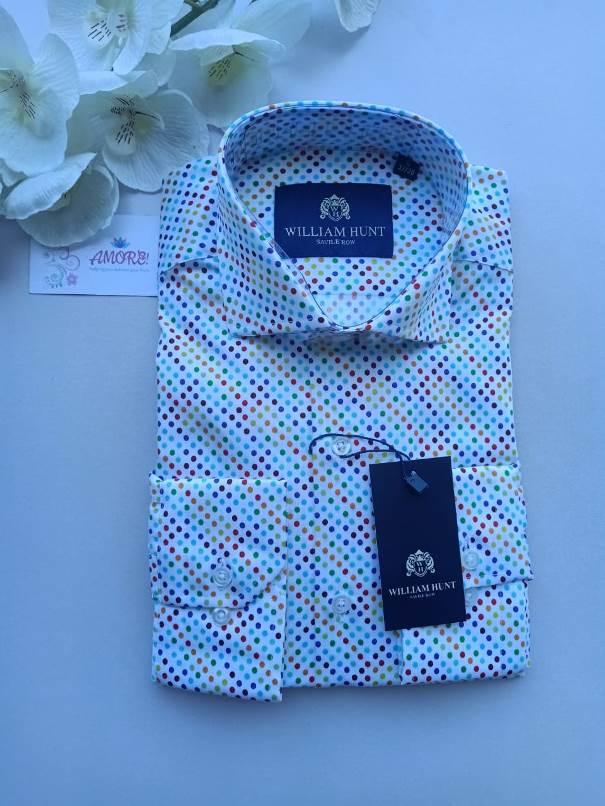 Multicolored polka shirt