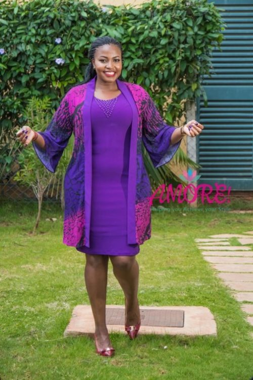 Purple HB fashion jacket dress