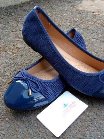 Royal blue doll shoe