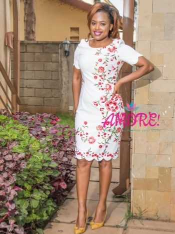 White red floral dress