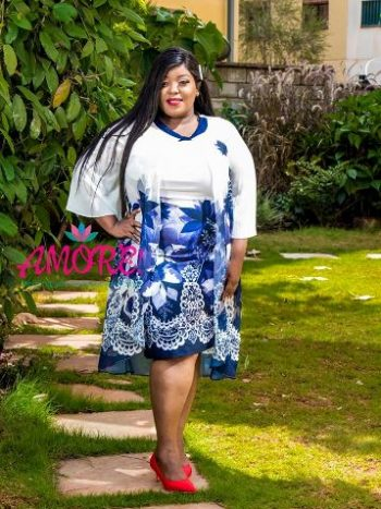 Floral blue two in one dress