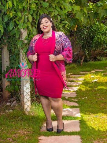 HB fashion maroon jacket dress