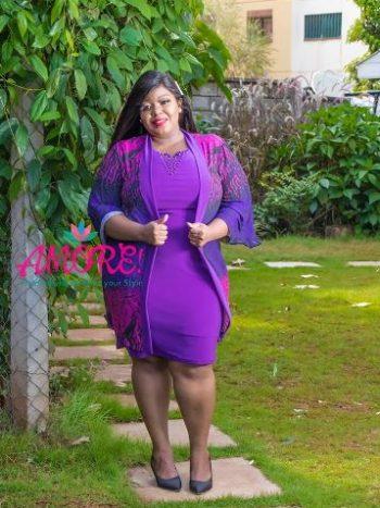 Hb fashions purple jacket dress