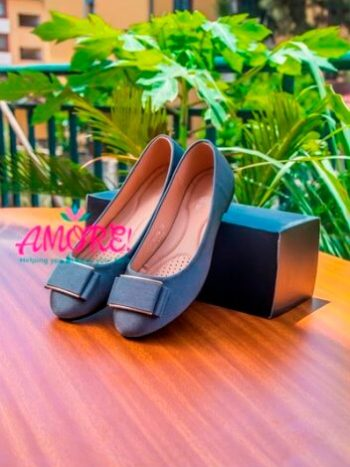 Grey doll shoes with buckles