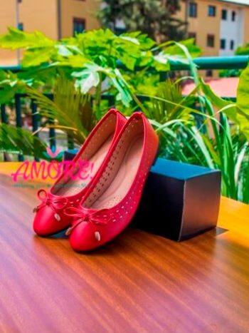 Red doll shoe