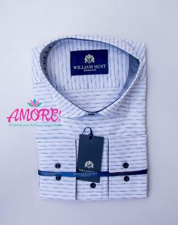 White blue shirt