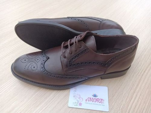 Safari brown detailed brogue