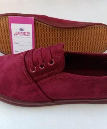 Maroon suede rubber shoe