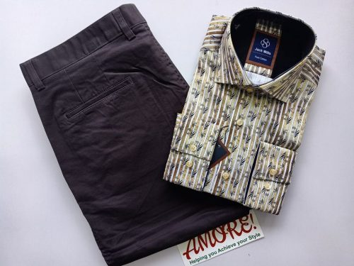 1 shirt and 1 khaki 25