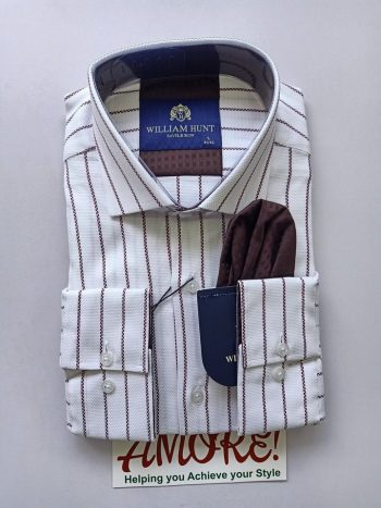 Striped white WH shirt